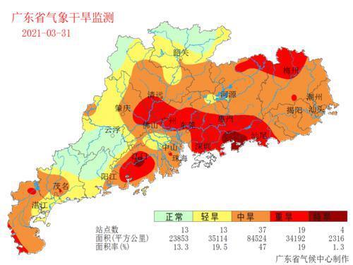 广东24个市县气温创新高!4月或将持续干旱